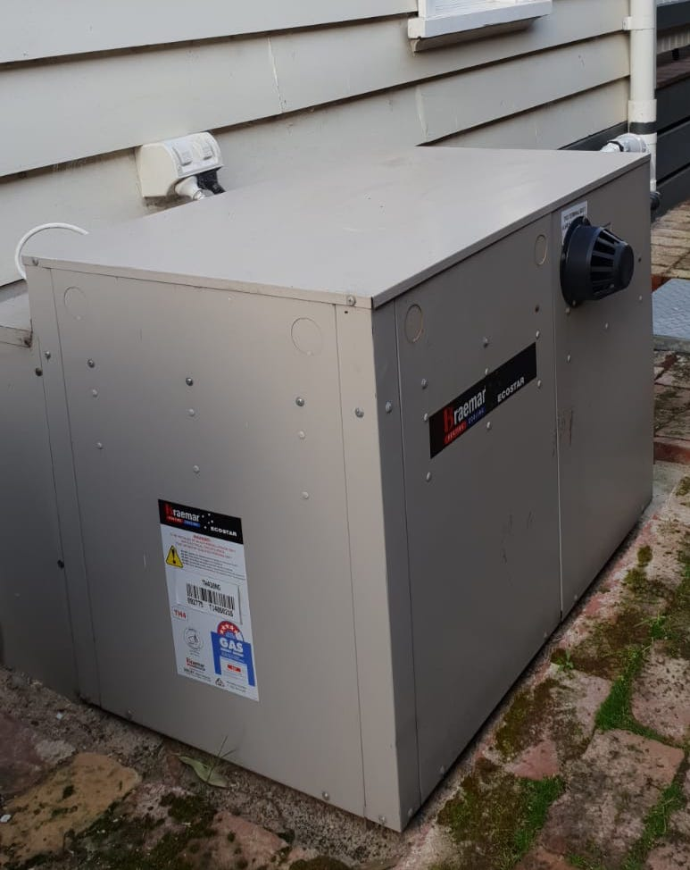 Braemar gas ducted heater