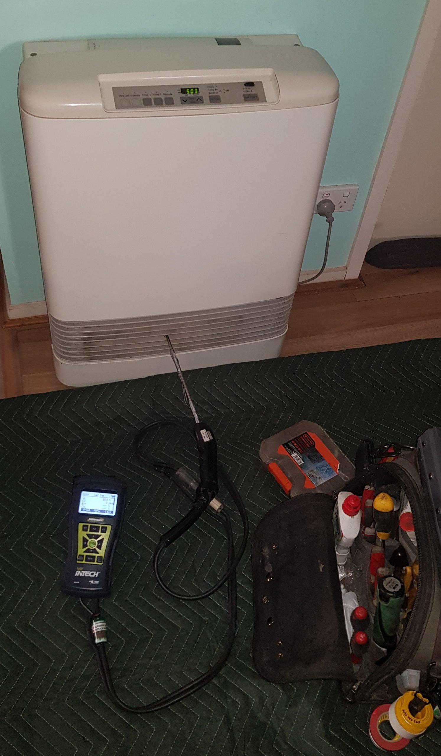completing a carbon monoxide test
